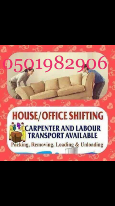 Call For Moving and Shifting packing and furniture delivery 0501982906