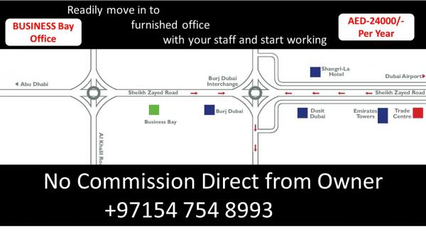 Readily move in to furnished office with your staff and start working