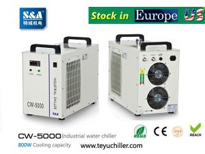 S&A industrial water chiller CW-5000 manufacturer for co2 laser