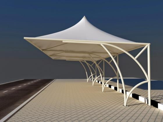Fabric shade structures - Parking shades,Tensile shades,Swimming pool shades,Walkway shades,Play area shades,Garden shades,Roof shades