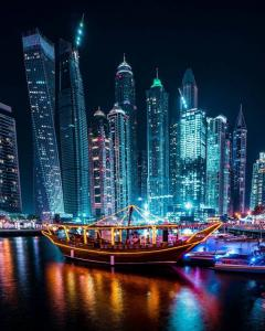 Dhow Cruise Marina Dinner By Dhow Cruise in Dubai