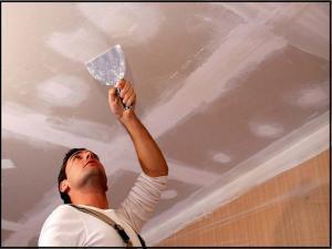 Gypsum ceiling repair