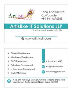E-Commerce app solution Artistixe IT Solutions LLP