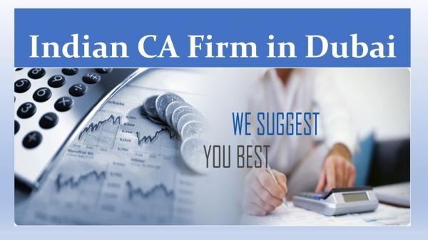 Indian CA Firms in Dubai