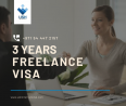 Be a Freelancer in UAE - Get your 3 years Freelance Visa here! Dial #00971544472157