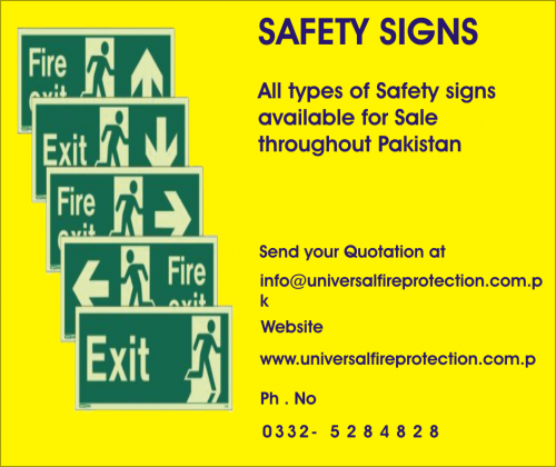Safety Signs available for Sale in Paksitan
