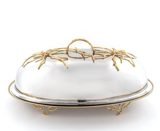 Shop Online Oval Gold Silver Chafing Dish for Table Setting