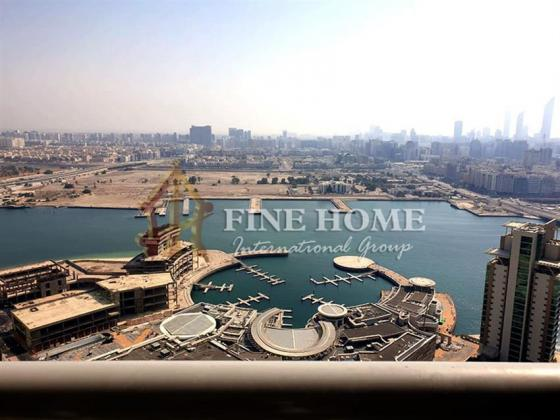 2BR Apartment in High Floor with beautiful Marina View.