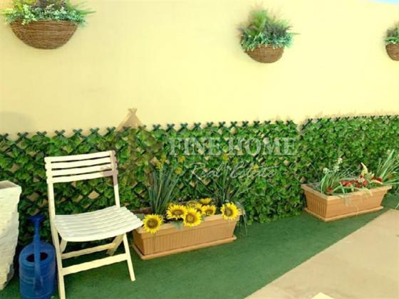 Fully Furnished Corner single Row Villa with Pool