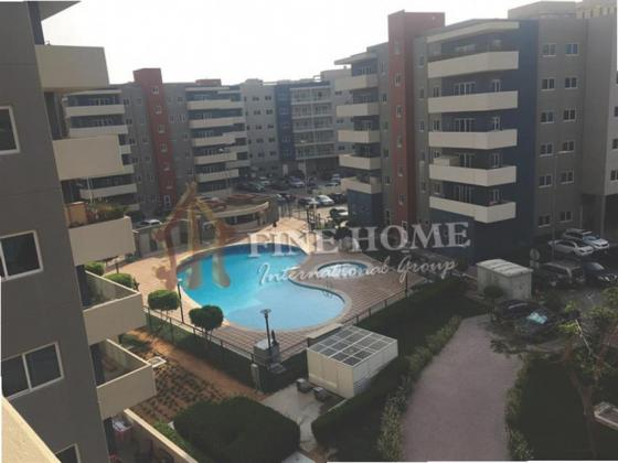 Pool View! 3BR. Apartment + Maid Room in Al Reef