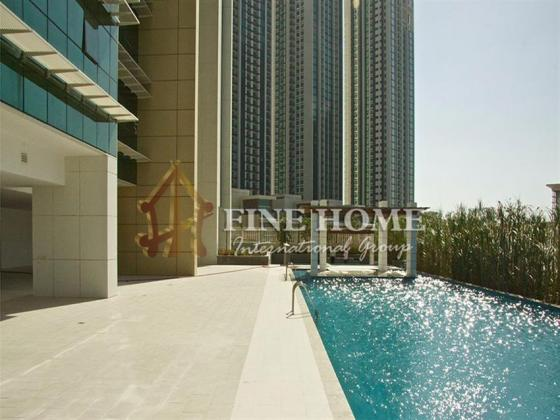 Own High floor 1BR Apt with stunning sea view