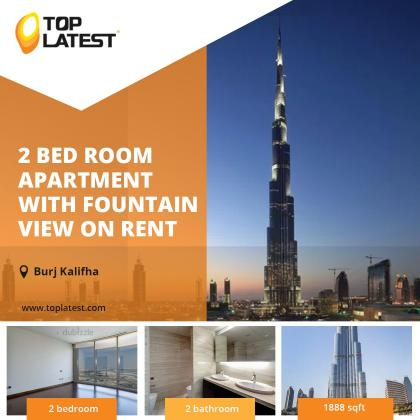 Phenomenal Apartment with Fountain View in UAE