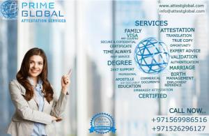 Prime Global Attestation Services UAE - Certificate & Document Attestation Services in UAE
