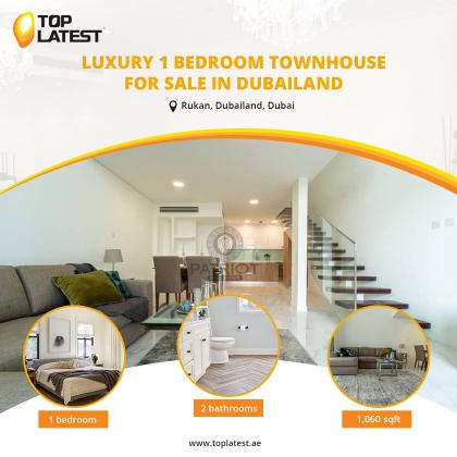 Luxury 1 Bedroom Townhouse for Sale in Dubailand