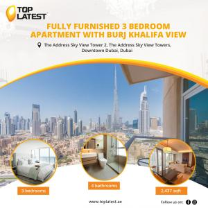 Fully Furnished 3 Bedroom Apartment With Burj Khalifa View